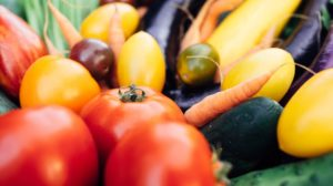 Tomatoes, carrots and eggplant